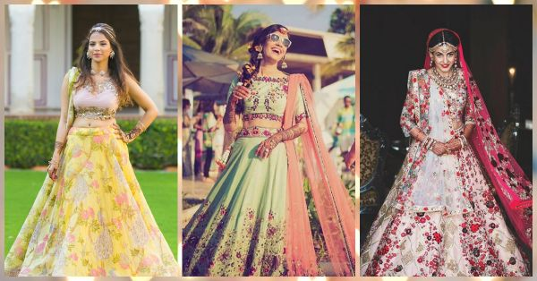 10 Brides Who Wore The *Prettiest* Floral Lehengas - We LOVE!