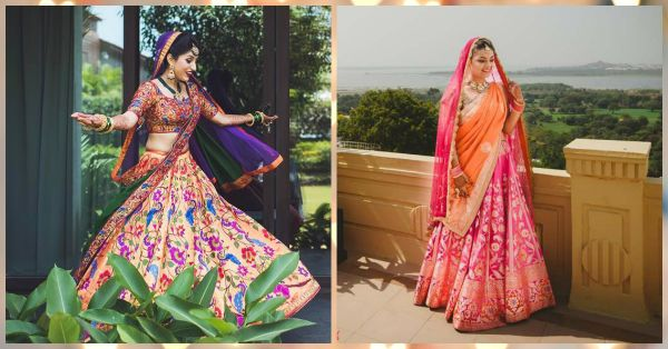10 Brides Who Wore *Stunning* But Not-Too-Heavy Lehengas!