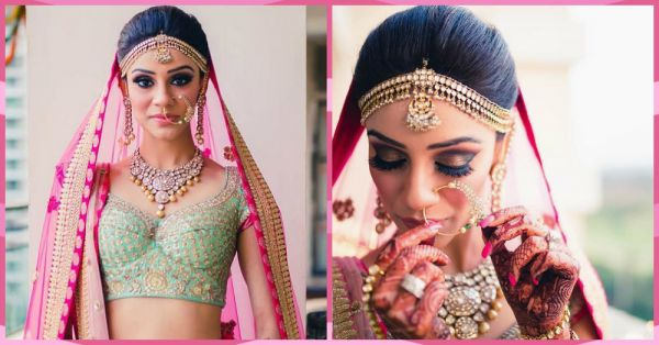This Bride Wore A Unique Colour Combination & We're Obsessed!