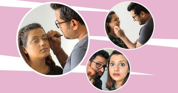 I Let My Husband Do My Makeup… And It Didn't Turn Out As I Expected!