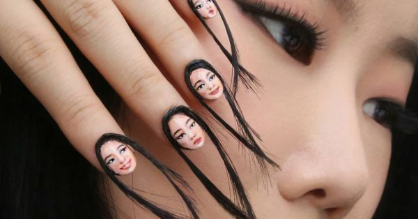 #SoAbsurd: Selfie Nails With ACTUAL Hair Is A Thing And WE CAN'T EVEN!
