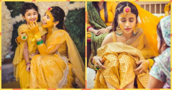 This Bride's Sunshine Yellow Haldi Outfit Will *Brighten* Up Your Monday!