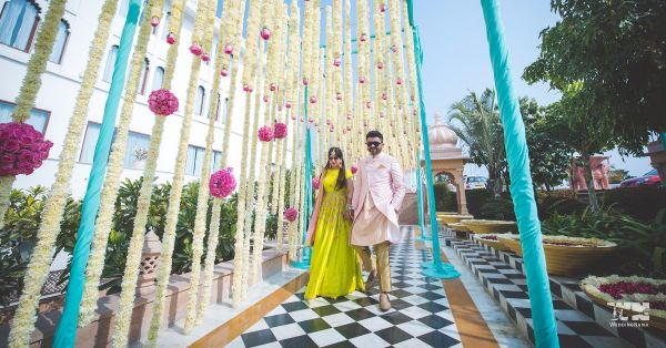 Move Over Pink & Yellow, This Blue Persian-Themed Mehendi Decor Is Totally Slaying It!