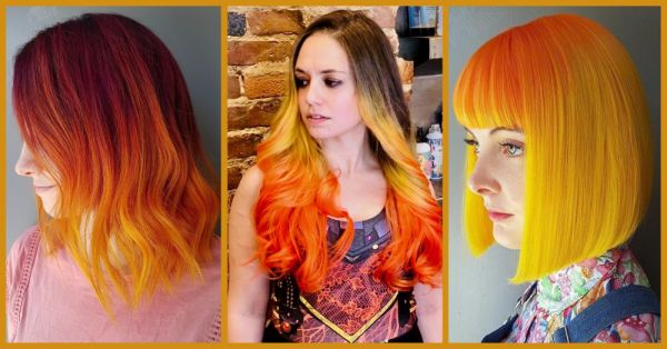 Hot & Cool: Hair In Warm Shades Of The Sunset Is The Trendy Look This Winter!