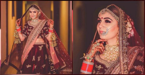 This Bride Set A New Trend By Getting Her Wedding Hashtag Embroidered On Her Lehenga!