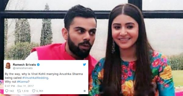Virat And Anushka Got Married And The Internet Reacted In The Funniest Ways