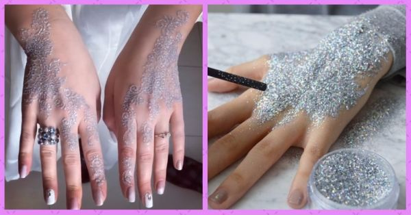 Bridal Mehendi Just Got A Makeover!  Check Out The New & Amazing Glitter Mehendi!