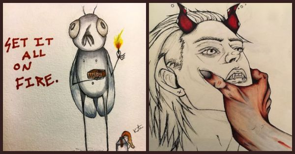 This Artist Sketches Her Schizophrenic Episodes And It's Beautiful!