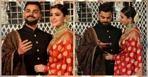 Just 8 Adorable Pictures Of Virat And Anushka Looking Absolutely In Love At Their Delhi Reception!