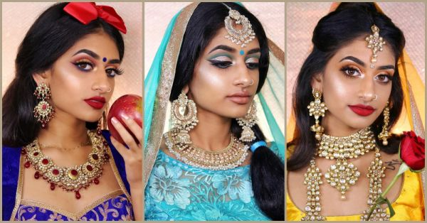Princess Vibes: This Make-Up Artist Recreated Disney Characters With A Desi Twist!