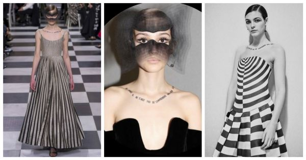 There's More To These Neck Tattoos Seen At The Dior Spring 2018 Show