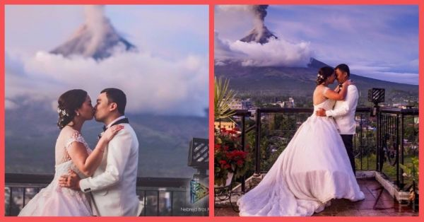This Couple Turned A Volcano Into A Magical Backdrop For Their Wedding Photo Shoot!