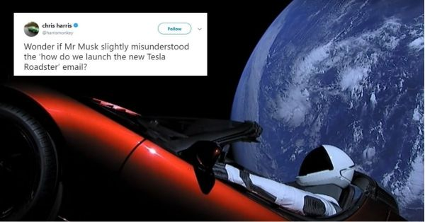 The Funniest Memes About The 'Car Launched Into Space' That Have Us Chuckling