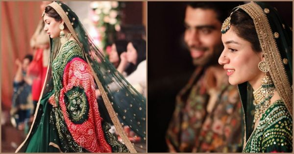 A Pakistani Bride Wore A Green Sabya Lehenga & We've Never Seen Anyone Look So Royal