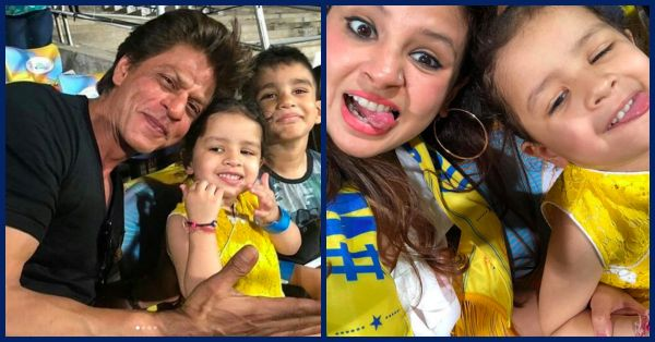 SRK Chilled With Dhoni's Daughter Ziva & It Became The Highlight Of The Match!