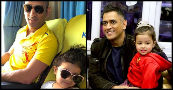 Dhoni Doing His Daughter Ziva's Hair After His Big IPL Win Is Going To Make Your Day!