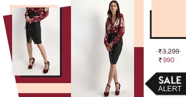 Take This Black Pencil Skirt From The Boardroom To The Bar In Just Rs 990!