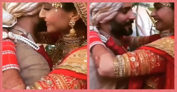 This Video Of Sonam's Kaleeras Getting Stuck In Anand's Jacket Is So Cute & Filmy!