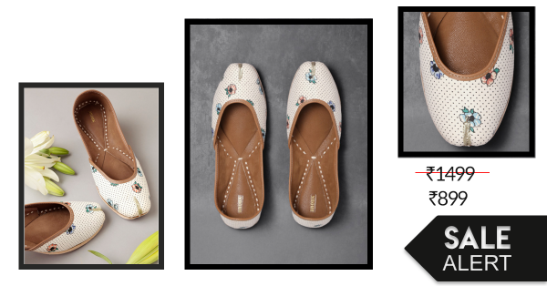 This Stylish Jutti On Sale Will Go With Your Sunday Jeans & Your Monday Kurta!