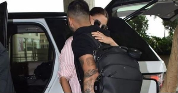 Anushka Sees Virat Off At The Airport With A Tight Hug And We Love This PDA!