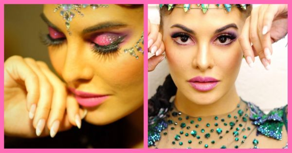 Jacqueline's Stage Makeup For The Da-Bangg Tour Is A Glitter Fiesta!