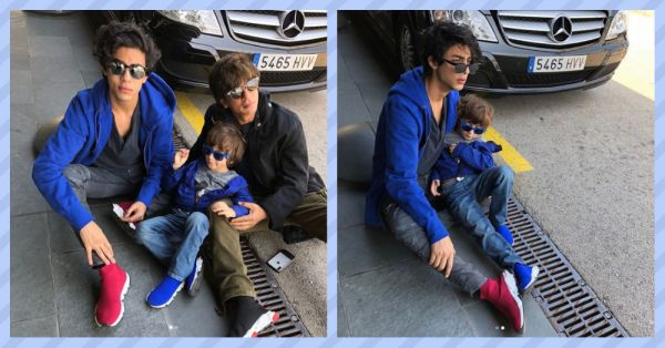 Aryan & AbRam Steal The Spotlight From King Khan In Barcelona
