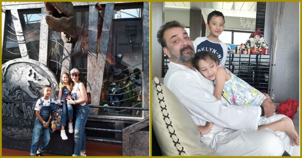 Maanayata & Kids Are Celebrating Sanju's Success In Singapore But Baba Seems Busy!