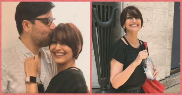 Sonali Bendre's Post-Haircut Pictures With Husband Will Melt Your Heart