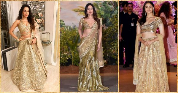 Shimmer In Gold This Wedding Season Just Like These Eight Divas!