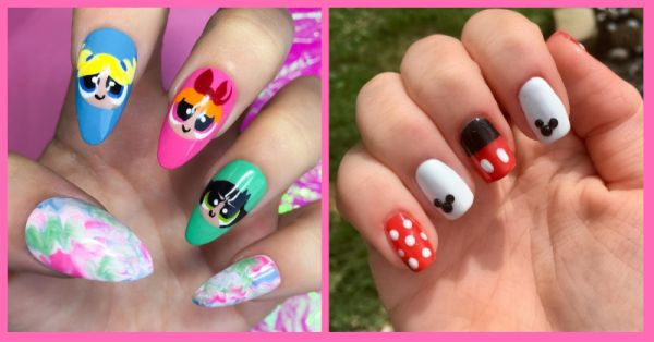 #ThrowbackThursday: These Cartoon Inspired Nail Art Designs Will Take You Back To The 90s