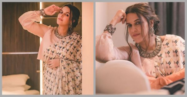 Newlywed Neha Dhupia Shows Us How To Look *Edgy* In A Saree!