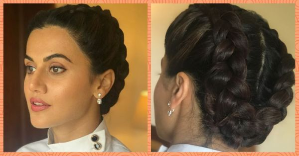 Taapsee's Braided Bun Is A Boon For Pear-Shaped Faces