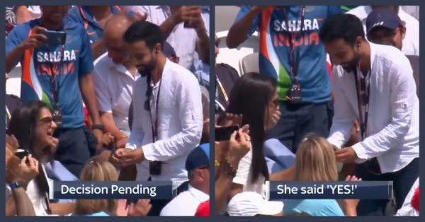 This Guy Proposed To His Girlfriend During The India-England Match & It Was Filmy AF!