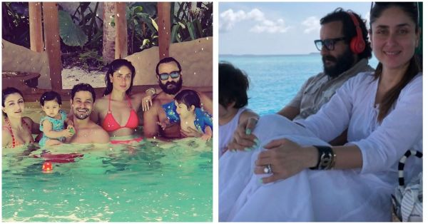 Taimur & Inaaya Are Holidaying In The Maldives With Their Nawabi Families!