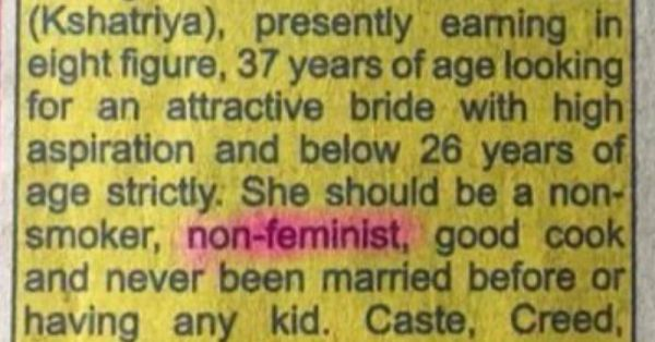 An Open Letter To The Man Who Paid Good Money For A Ridiculous Matrimonial Ad