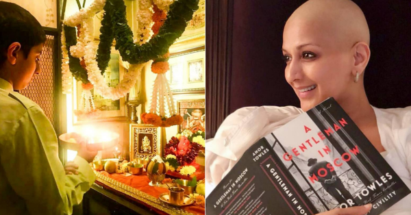Missing Home: Sonali Bendre Shares Pictures Of Son Ranveer Praying To Bappa