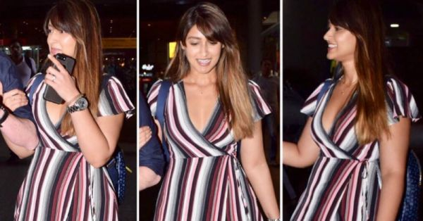 Dear Curvy Woman, Ileana's Striped Dress Is The Most Flattering Thing To Wrap Yourself In!