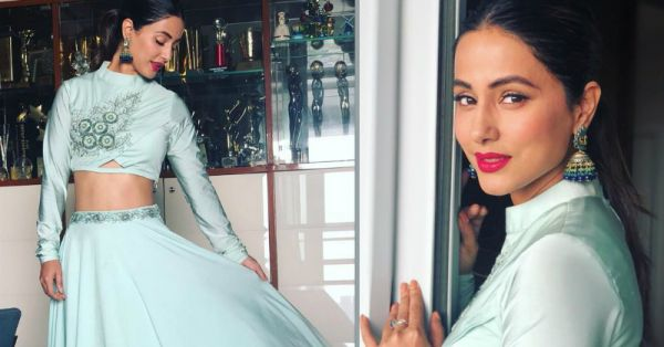 Hina Khan Shows Us Dusky Girls How To Pull Off The Shiniest Of Blues With Indian Wear