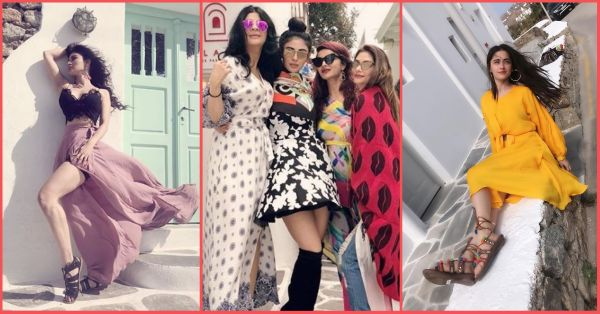 Pics: TV's Fave BFFs Mouni & Sanjeeda Are Giving Us SATC Feels From Their Stylish Greece Vacay