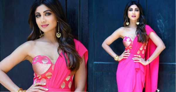 Shilpa Shetty Gives Us *Shock* Therapy In An Electric Pink Corset Blouse