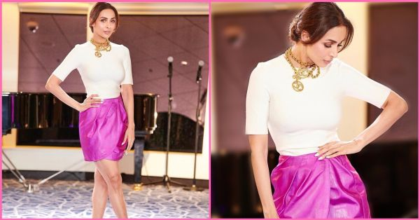 Malaika Shows Us How To *Glamorously* Style The Basic White T-shirt For A Party