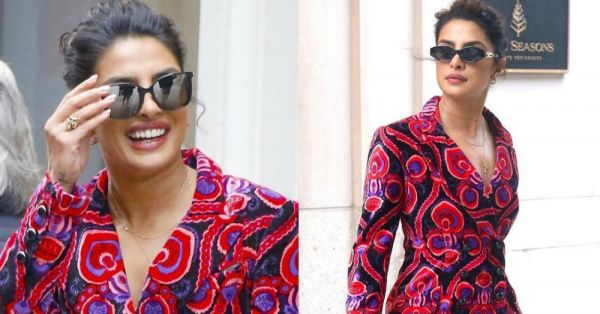Priyanka Chopra's Psychedelic Print Suit Is Making Us *Trip* Super Hard