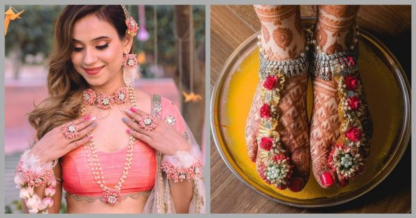 An Indian Bride Wore The Most Gorgeous Floral Jewellery & We Can't Take Our Eyes Off Her