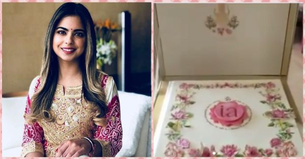 Isha Ambani's Wedding Invite Is Worth 3 Lakhs And It Includes A Handwritten Note!