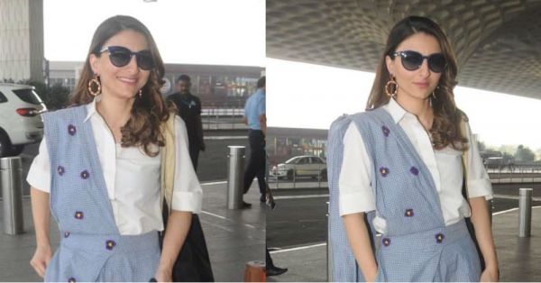 Soha Ali Khan Is Why Saree-Pants Are All We're Wearing This Season
