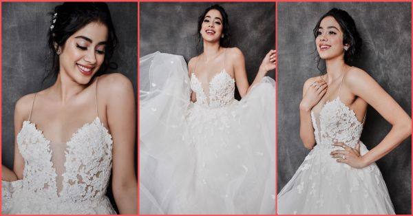 Make (G)room For Janhvi 'Coz She Stepped Out In A Bridal Gown Looking Extra AF!