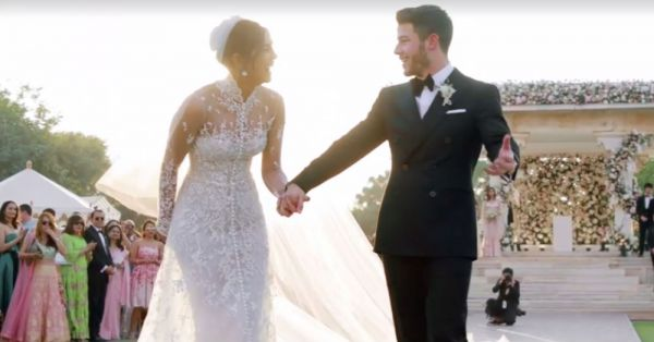 *Ssshhh*.... Nickyanka's Wedding Outfits Had These Secret Heart-Melting Messages On Them!