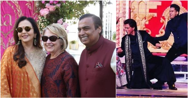 Watch: SRK Says 'Abhi Toh Party Shuru Hui Hai' To Hillary Clinton At The Ambani After-Party!