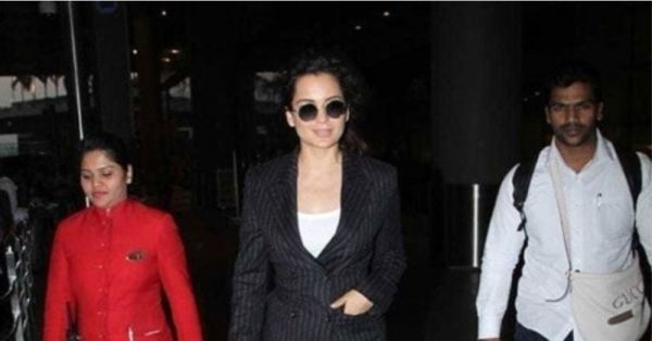Kangana Ranaut's Airport Look Proves That All-Black Errything Is Anything But Boring