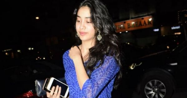 Janhvi Kapoor's Sheer Bandhani Suit Is Giving Us The Blues... And Not The Bad Kind!